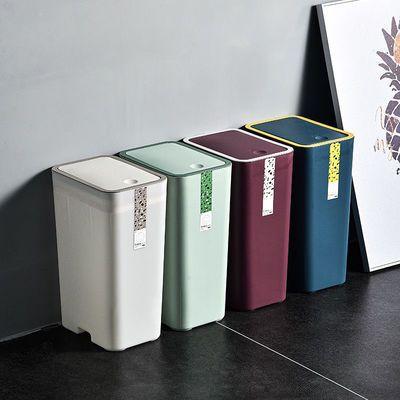 有盖按压式垃圾桶家用带盖创意卫生间厕所防臭客厅分类式大号纸篓