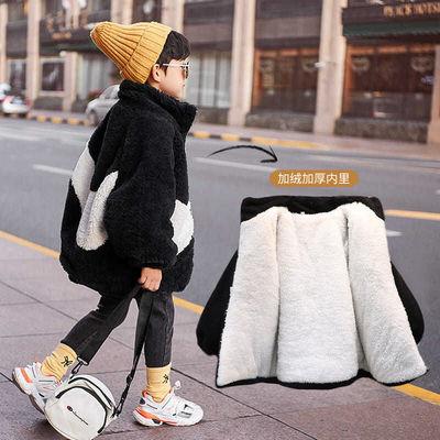 男童装外套加绒加厚2020冬季宝宝新款羊羔绒外套保暖加棉儿童棉衣