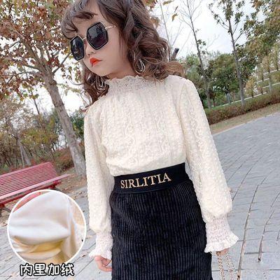 75337/女童半身裙薄款打底衫新款时尚蕾丝半高领宝宝洋气半身裙四季款