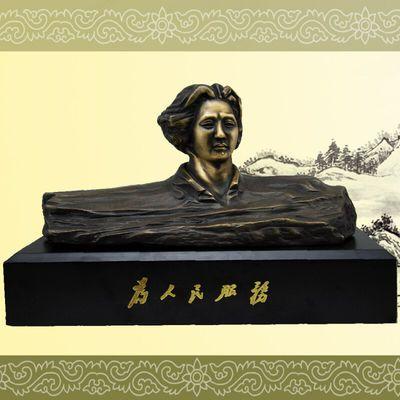 青年艺术铜雕像橘子洲头纯铜摆件 铜像
