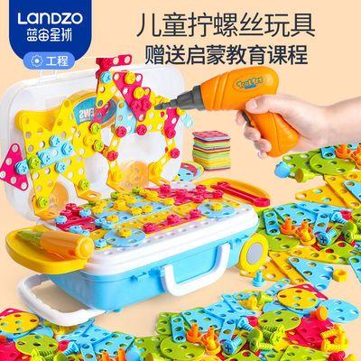 儿童拧螺丝钉拼装玩具拆装拆卸拼图积木宝宝动手益智电钻玩具套装