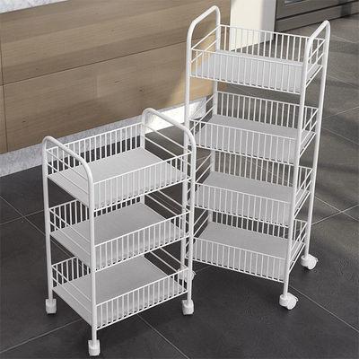 蔬菜架水果菜篮子厨房置物架移动收纳架储物架落地多层架子小推车