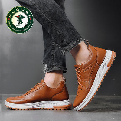 【PLOVER啄木鸟】马丁靴男士PU加绒棉鞋单棉同款男鞋时尚韩版潮流