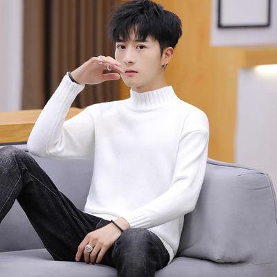 半高领毛衣男士中领韩版2020秋冬新款针织衫套头线衣男生打底衫