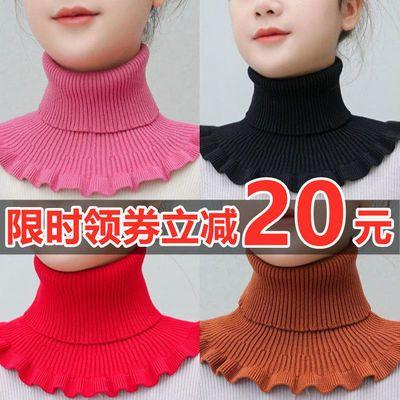 围脖女套头秋冬保暖脖套护颈椎百搭装饰假领子针织高领毛线衣领