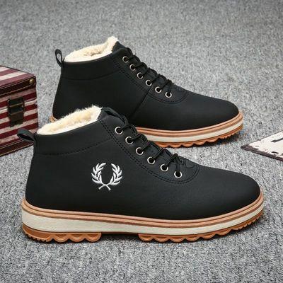 马丁靴秋冬季男士工装靴子雪地军靴英伦风男鞋子棉鞋保暖高帮潮鞋