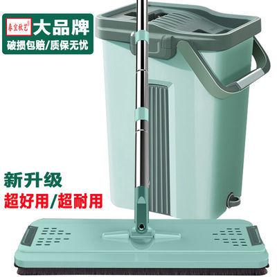 大号免手洗平板拖把懒人家用擦木地板神器干湿两用旋转吸水墩布桶