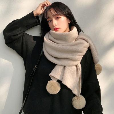 新款围巾女冬季韩版百搭可爱学生毛线针织网红款时尚少女保暖围脖