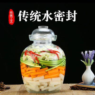 密封玻璃泡菜坛子透明腌菜缸加厚大号四川酸菜咸菜腌制罐家用带盖