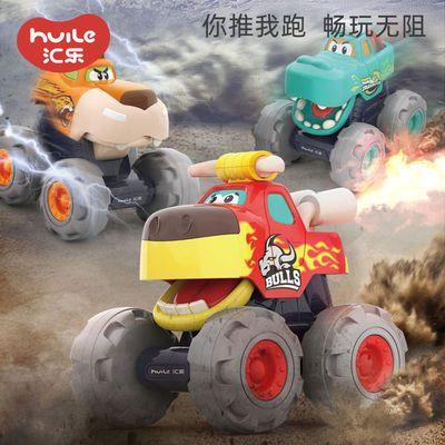 汇乐儿童玩具车惯性越野车耐摔回力车滑行玩具工程车男孩小汽车