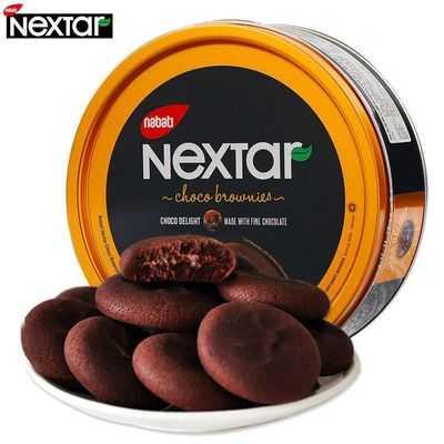 印尼进口零食丽芝士纳宝帝NEXTAR软心趣布朗尼巧克力注心曲奇饼干