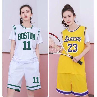 73369/篮球服套装女大学生个性定制运动比赛球衣韩版女子短袖印字打球衣