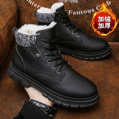 冬季雪地靴男棉鞋男加绒男士鞋休闲中高帮加厚保暖马丁靴棉短靴子