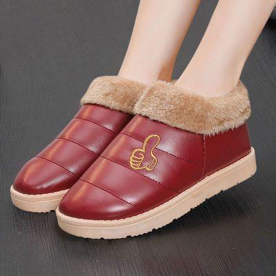 棉拖鞋女包跟厚底室内男棉鞋保暖防水加绒毛毛拖鞋月子鞋韩版冬季