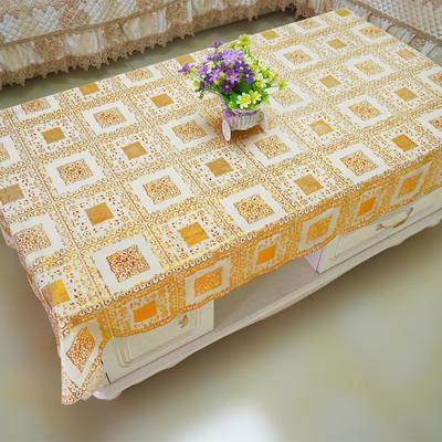 PVC蕾丝桌布烫金彩色桌布盖布茶几餐桌防水防烫防滑防油可擦免洗