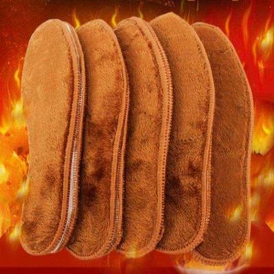 羊毛鞋垫女加绒加厚保暖男士吸汗防臭透气毛绒软底舒适棉鞋垫冬季