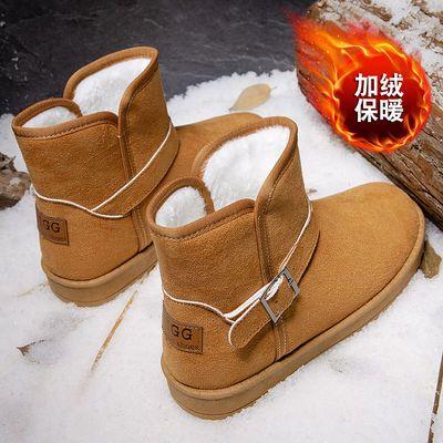 冬季雪地靴男保暖加绒加厚男士休闲短靴子男防滑韩版潮流高帮棉鞋