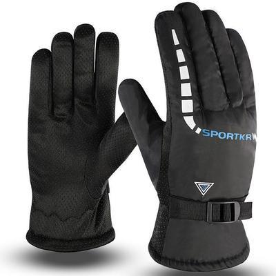 冬季男士保暖棉手套户外防滑电动摩托车骑行女士防风加绒加厚手套