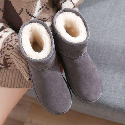 雪地靴女2020新款加绒加厚鞋子冬季套脚韩版雪地鞋秋冬雪地棉女【2月28日发完】