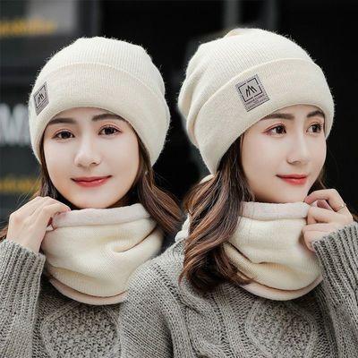 帽子女冬天潮保暖秋冬季女士百搭毛线帽加绒针织帽韩版骑车护耳帽