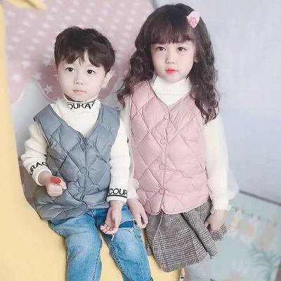 76364/儿童马甲背心轻薄款内穿外穿秋冬男女童小中大童宝宝内搭外穿坎肩