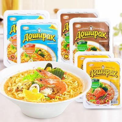 俄罗斯进口多食乐泡菜蘑菇海鲜味方便面拌面小吃泡面批发