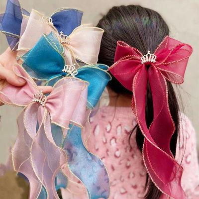 儿童发夹公主皇冠发饰 韩版ins风甜美可爱网纱发夹婴儿头饰饰品