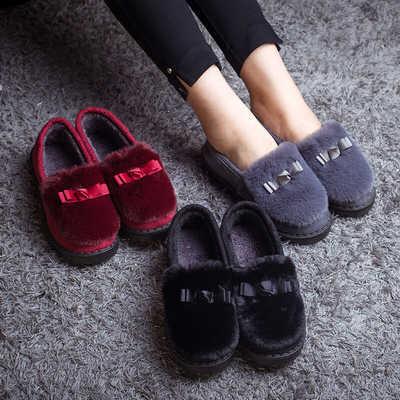 秋冬新款网红毛毛棉鞋包根月子懒人豆豆鞋保暖加绒平底防滑妈妈鞋