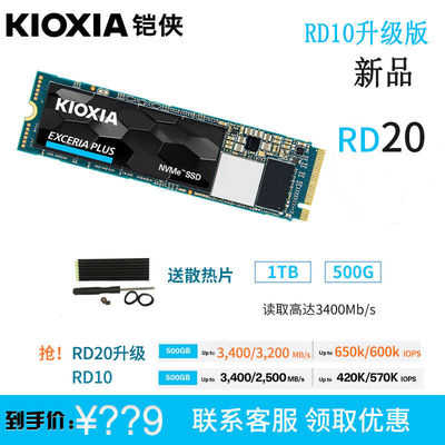 KIOXIA 铠侠 RD10 M.2 NVMe 固态硬盘 500GB