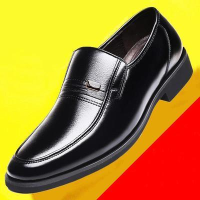 正品男士商务皮鞋软底商务正装透气休闲中老年爸爸鞋子男结婚鞋