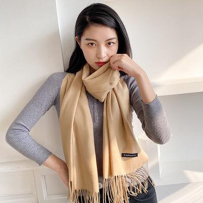 围巾女冬季韩版百搭春秋长款多功能披肩女外搭冬天仿羊绒保暖两用