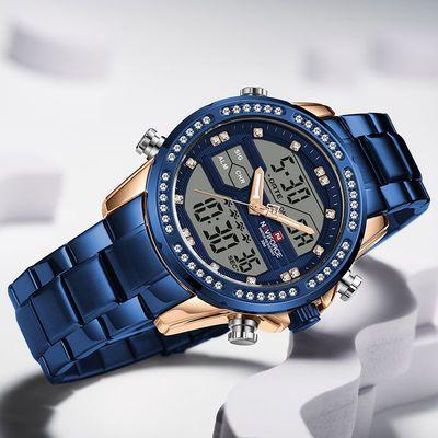 78845/NAVIFORCE/领翔新品运动潮流防水电子双显示发光黑科技男士腕手表