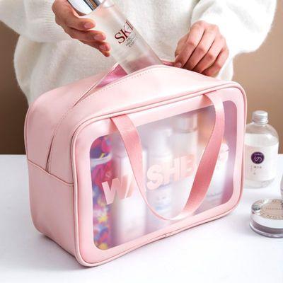 网红防水化妆包ins收纳包便携旅行透明大容量洗漱包化妆品收纳袋