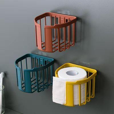 纸巾盒卫生间塑料免打孔置物架放卫生纸抽纸洗手间厕纸卷纸筒壁挂