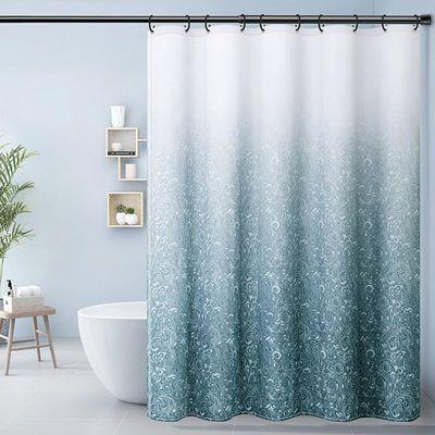 浴室隔断帘防水浴帘布防霉套装免打孔卫生间挂帘淋浴房洗澡门帘子