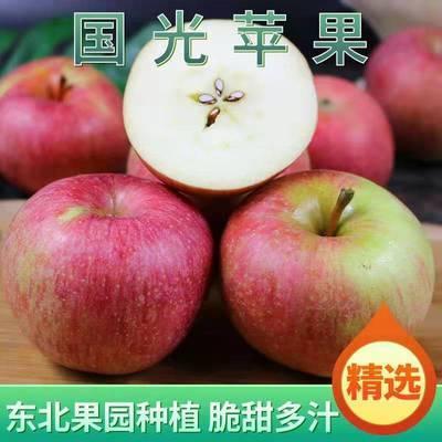 【儿时味道】正宗东北国光苹果3/5/10斤应季新鲜水果酸甜整箱批发