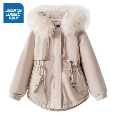 真维斯棉衣服女2020新款派克服棉袄女装潮ins冬天季加绒加厚外套