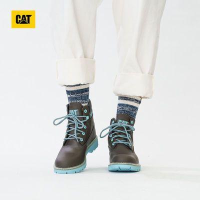 CAT卡特秋冬款女LYRIC休闲靴工装靴女靴皮鞋皮靴高邦鞋