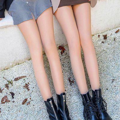 光腿神器女加绒加厚秋冬季假透肉肉色打底裤外穿显瘦裸感连裤袜潮