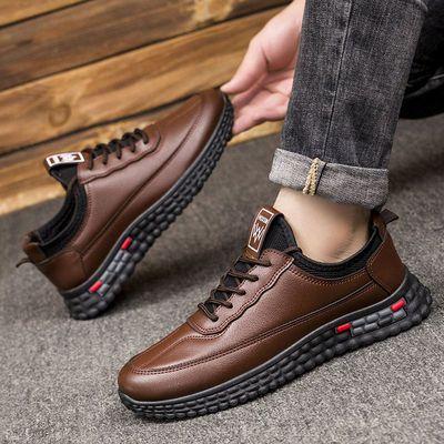 新款2021秋冬季男鞋休闲运动户外潮鞋男士低帮加棉男鞋