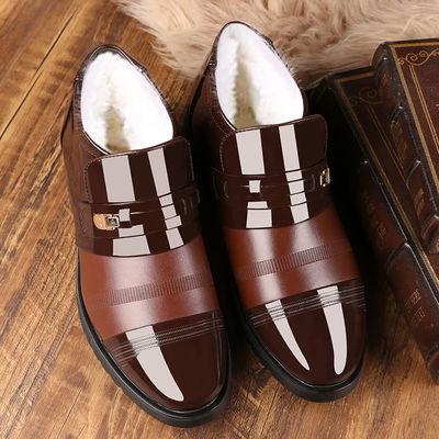 男士棉鞋冬季加绒保暖加厚百搭商务休闲高帮皮鞋防滑男爸爸雪地靴