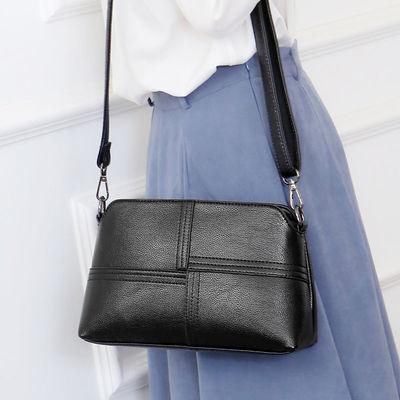 真皮女包2021新款时尚单肩斜挎包牛皮中年妈妈包小包大容量女士包