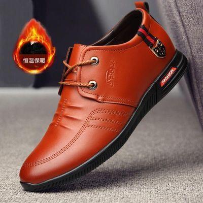 跨境外贸新款单棉同款棉鞋PU休闲鞋男加绒加厚保暖男鞋时尚款男鞋