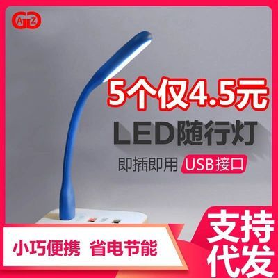 随身LED小夜灯迷你创意节能环保移动电源电脑USB充电宝灯护眼灯