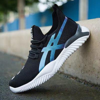 2020新款男士休闲鞋透气运动跑步鞋软底潮流轻便飞织网面鞋