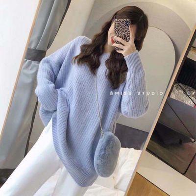 2020新款韩版毛衣女装圆领套头打底宽松慵懒网红女学生针织外套【2月28日发完】