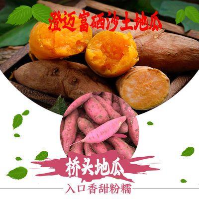 海南桥头富硒网红地瓜新鲜现挖红薯红皮黄心地瓜一点红板栗番薯