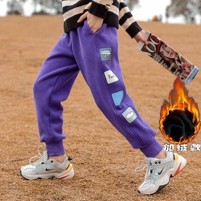 女童运动裤秋冬季加绒2021新款韩版洋气中大童外穿一体绒休闲裤潮,免费领取1元拼多多优惠券