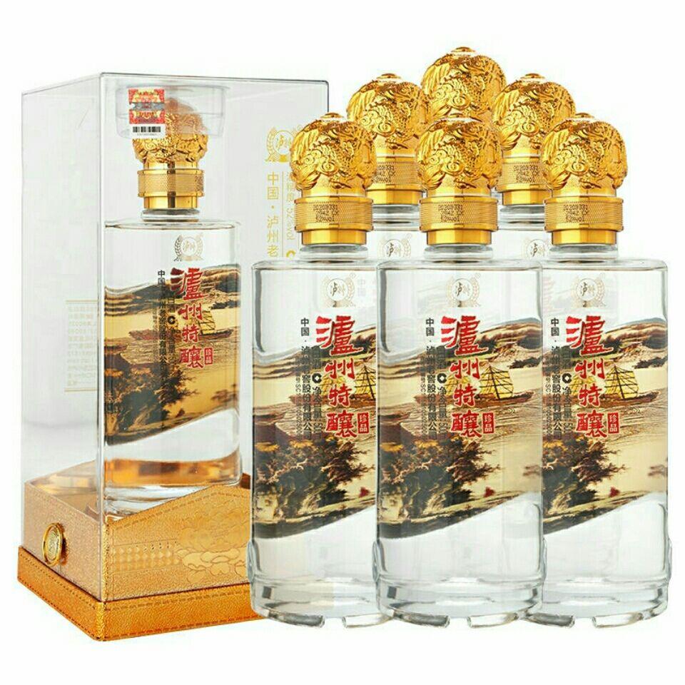 泸州老窖股份泸州特酿陈酿珍品浓香白酒42度52度整箱6瓶假一赔十