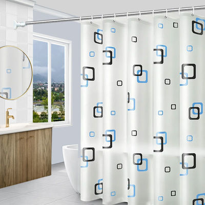 浴室浴帘布套装防水防霉加厚挂帘卫生间隔断帘子免打孔门帘洗澡帘